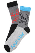 Men&#39;s The Hi Pirate Socks in Gray Multi, Socks