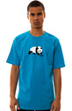 Men&#39;s The Original Panda Tee in Turquoise, T-shirt