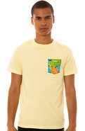 Men's The Macaw Slim Tee in Yellow, T-shirts