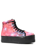 Women's The HIYA Sneaker in Pink Cosmic and Black,