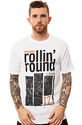 Men&#39;s The Rollin Round Tee in White, T-shirts