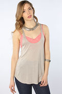 Women's The Melody Racer Tank in Chateau Gray, Top