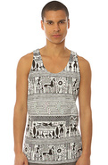 Men's The Antigone Tank in White, Tank Tops