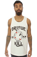 Men&#39;s The Hard To Kill Tank in White, Tank Tops