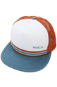 Men&#39;s The Barlow Trucker Hat in Rust, White and Bl