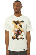 Men's The Honeycomb Tee in White, T-shirts