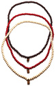 Men's The Necklace Set in Natural, Red, & Dark Bro