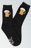 Men's The Brewsin' Socks in Black, Socks