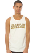 Men's The Illegal Tank in White, Tank Tops