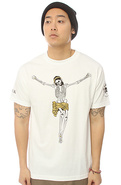 Men&#39;s The Crucifixio Tee in White, T-shirts