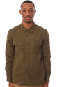 Men's The Free Loader Buttondown in Army Green, Bu