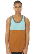 Men's The Freshblocks Tank Top in Caramel, Tank To