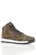 Men's The Backwood Sneaker in Camo Canvas, Black M