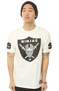 Men's The Ninja Shield Tee in White, T-shirts