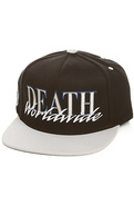 Men's The Death Worldwide Snapback Hat in Black, H