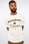Men's The Hennessey & Enemies Tee in White, T-shir