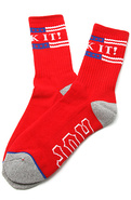 Men's The Fuck It Crew Socks in Red, Socks