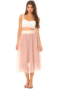 Women's The Raw Tulle Skirt in Shell, Skirts