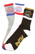 Men's The By Any Means 3 Pack Crew Socks in Black,