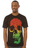 Men's The Bracket Skull Regular Tee in Rasta, T-sh