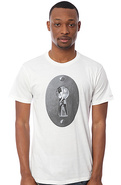 Men's The Keyhole Tee in White, T-shirts