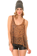 Women's The Skinny Tank in Leopard, Tops (Sleevele
