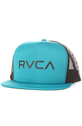 Men&#39;s The RVCA Trucker Hat in Ocean Depth, Hats