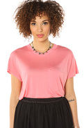 Women's The Holly Tee in Strawberry Pink, T-shirts