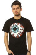 Men's The Stained Glass Keep Watch Tee in Black, T