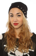 Women's The Spiked Beanie in Black, Hats