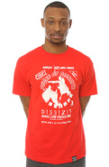 Men's The Cock Fight Tee in Red, T-shirts