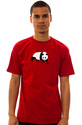Men&#39;s The Original Panda Tee in Cardinal Red, T-sh
