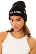 Women's The Ride or Die Beanie in Black, Hats