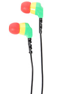 Unisex's The Daily Ear Buds in Rasta, Headphones