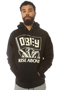 Men's The Rise Above Flag Pullover Hoody in Black,