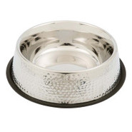 PetRageous Designs Dorado Hammered Finish Pet Bowl