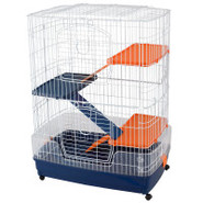 Prevue Pet 4-Story Ferret Cage on Rolling Base