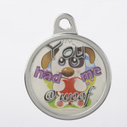 TagWorks Personalized You Had Me at Woof Pet Tag