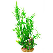 Bamboo Aquarium Plant with Rock Base