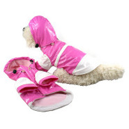 Pet Life 'Double-Tone' Fashion Waterproof PVC Rain