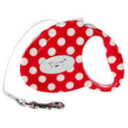 Flexi Fashion All Belt Retractable Red Polka Dot P