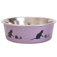 Whisker City Steel Cat Dish