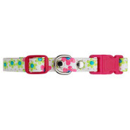 Lil&#39; Paw&amp;reg Adjustable Flower Pattern Dog Collar