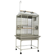 A&amp;E Play Top Bird Cage in Platinum