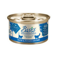 BLUE Basics Duck Entre Canned Cat Food