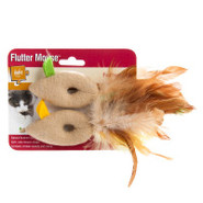 Petlinks System Flutter Mouse Feathered Toy
