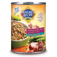 Nature's Recipe Healthy Skin Venison & Rice Canned