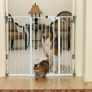 Top Paw Extra Tall Pet Gate with Small Pet Door
