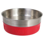 KONG Rubber-Bonded Stainless Steel Dog Bowl