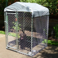Lucky Dog Hi-Rise Chain Link Kennel